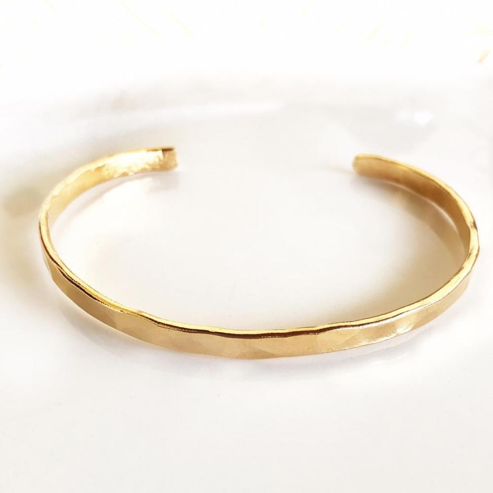 Pulseira bracelete regulável  folheado a ouro 18k