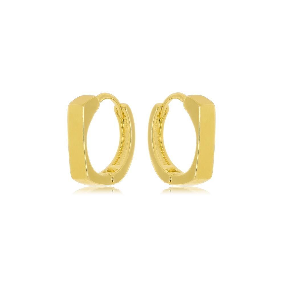 Argola minimalista folheada a ouro 18k