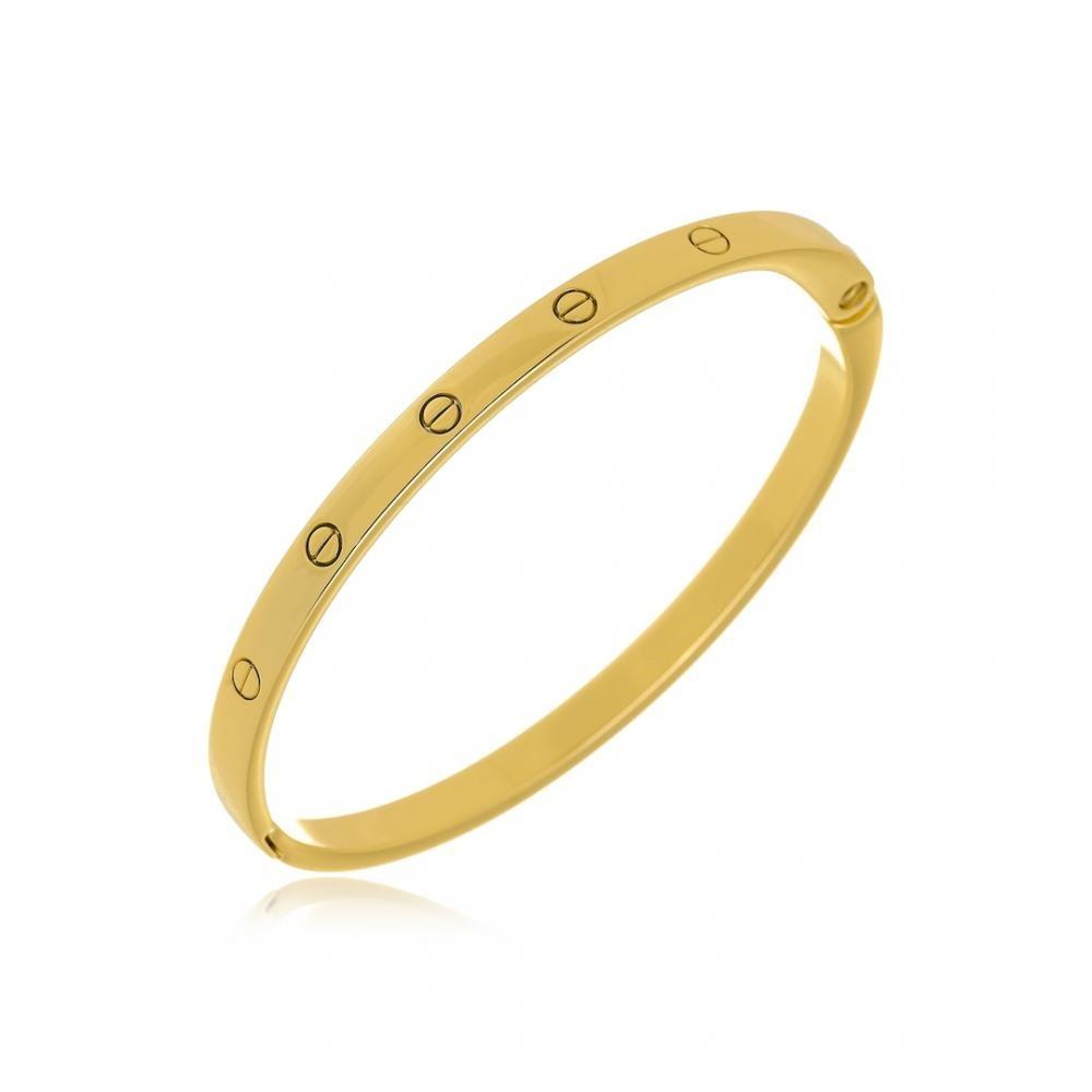 Bracelete de aro folheado a ouro 18k
