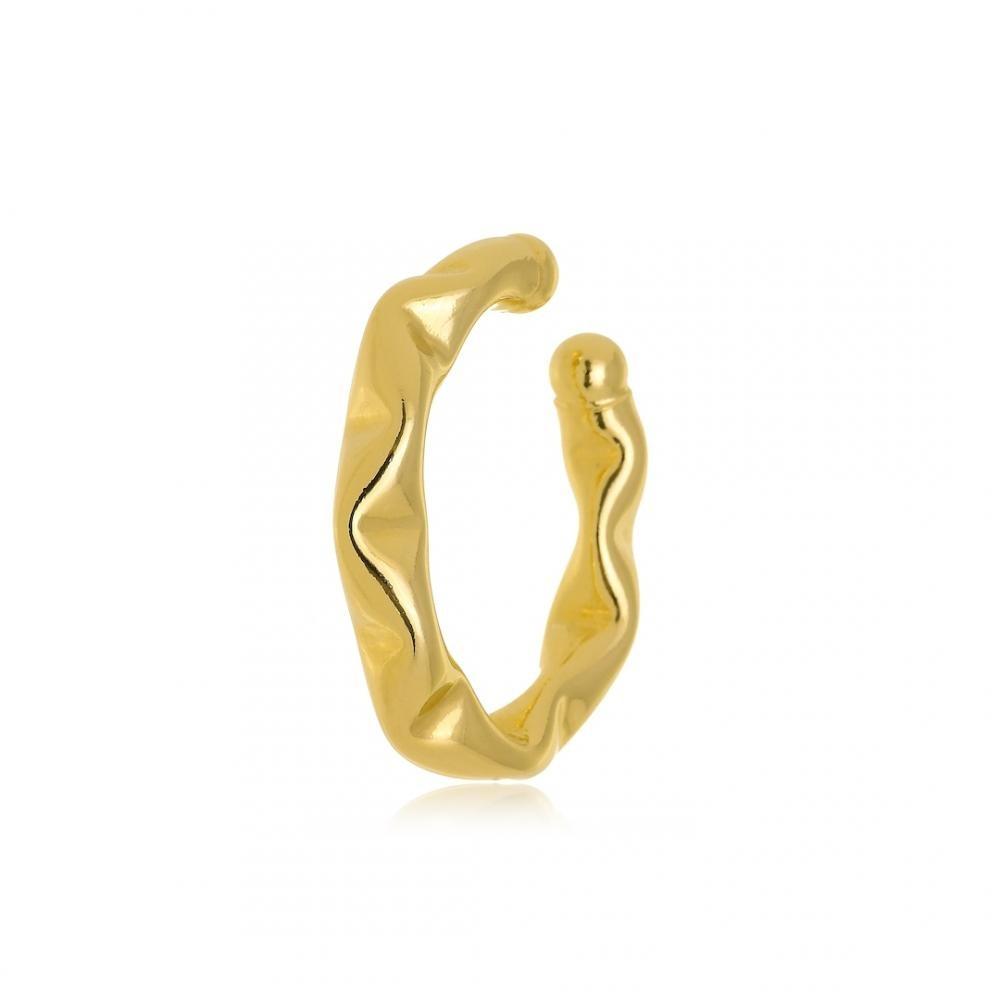 Piercing fake juliete de pressão médio folheado a ouro 18k