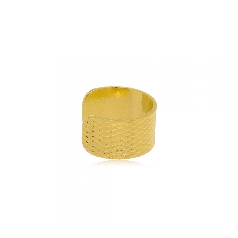 Piercing fake de pressão folheado a ouro 18k